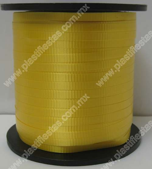 Curling liso amarillo intenso 1 pz